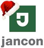 Jancon logo with Santa Hat